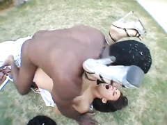 Crazy interracial sex with a BBC and Japanese beauty