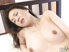 Intensive cock-riding session with an Asian girlfriend