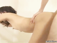 Asian girl anal and pussy fuck in close up