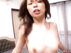 Missionary and top fuck for small titted Asian