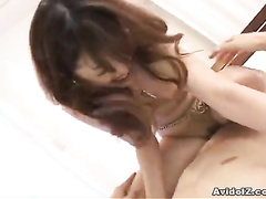 Girl with trimmed pussy enjoys suck and fuck