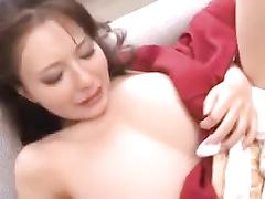 Gorgeous Japanese geisha is pleasing a horny male