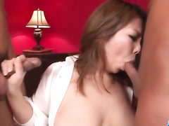 Asian hairy pussy and avid mouth are in sex game