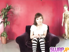 Naughty Japanese blows dick and licks male anus