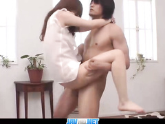 Asian slut swinging on the stiff hard peckers