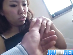 Small titted Japanese amateur fucked in doggy