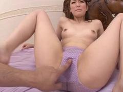 Dude masturbates Asian girl and she rides his dick