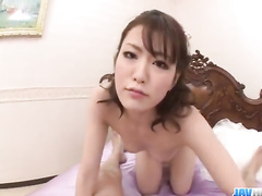 Dude masturbates Asian girl and she rides his dick
