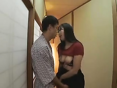 Hot Asian slut in black miniskirt is seducing her boyfriend