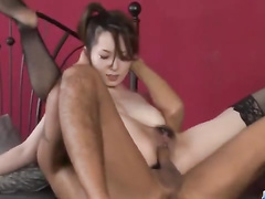 Asian dude is hotly fondling young Japanese chick to excite her hot