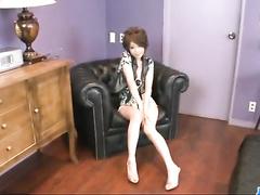 Amazingly beautiful Asian brunette chick is pleasuring passionate fuck