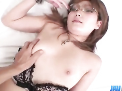 Young chick is sexy underwear is getting passionately fingered