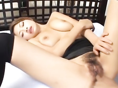 Beauty babe excites her fucker with asshole lick