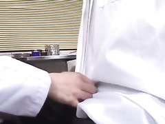Amazingly sexy cute Asian doctor gets fucked up by patient