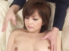 Yummy tight Japanese chick enjoys gentle fondling