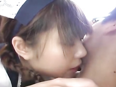 Asian cutie chick is doing tight blowjob before fucking hard