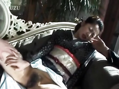 Asian sweetie pulls up her skirt and gets fingered