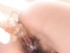 Japanese sweetie gets excitingly fondled and hotly fucked