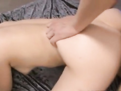 Beautiful young Asian chick gets pounded by two guys