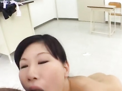 Four Japanese friends are fucking with one slutty chick