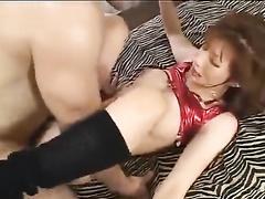 Slender young Japanese babe pleasured nasty hardcore fuck
