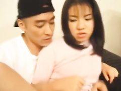 Cutie Asian babe gets seduced and fucked by delivery guy