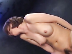 Slender Japanese babe is getting undressed and fucked hard