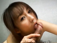 Cute Japanese girl excitingly masturbates before fucking