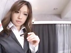 Asian beauty tastily sucks big dick and licks asshole