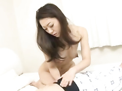 Japanese mature dude pleasantly fucks young beauty chick