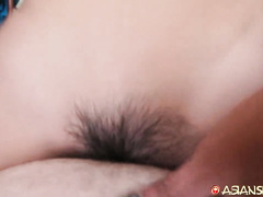 White tourist is trying tight Philippine hairy young pussy