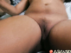 This hairy dick white tourist decides to fuck two Asian chicks at once