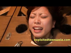 Japanese beauty chicks got cuffed in neck shackles and unsparingly fucked in the deepthroat