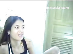 Cute Thai girl with tiny tits enjoys hardcore fuck with white guy
