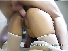 Sexy assed Philippine girl Lucy enjoyed hardcore doggystyle fuck with white guy