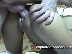 Charming Thai chick Francesca gets fucked hard by white dude