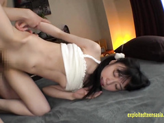 Adorable and sexy Japanese girl Asami Tsuchiya got fingered and licked and fucked