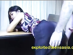 Young Philippine chick Mary-Jane does deepthroat blowjob and fucks hard with white dude