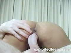 Sexy Philippine girl Martha blowjobs white cock and gets cumshots in mouth